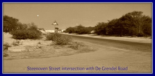 steenoven street intersection with de grendel